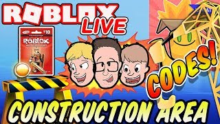 Unboxing SImulator Construction Area New Codes! Robux Giveaway | Roblox with Schlamaddy