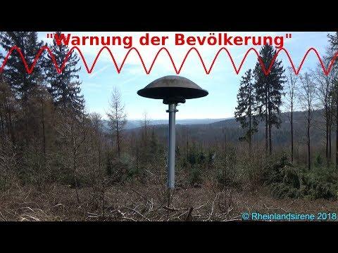 """Sirenenprobe Mit Zwischenfall - """"Warnung Der Bevölkerung"""" Im Rhein-Sieg-Kreis + Radiodurchsage"""
