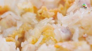 阿爺廚房食譜 - 芋頭豬油渣炒飯