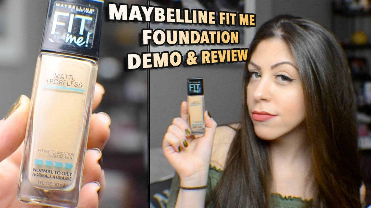 Maybelline Fitme Matte Poreless Foundation Ii Review Demo Youtube Airyrooms Fit Me 30ml