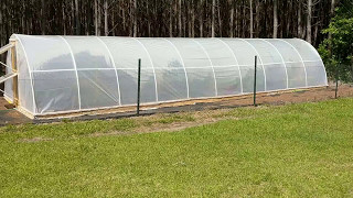 DIY PVC Greenhouse/Poly Tunnel Greenhouse Project (plastic cover)
