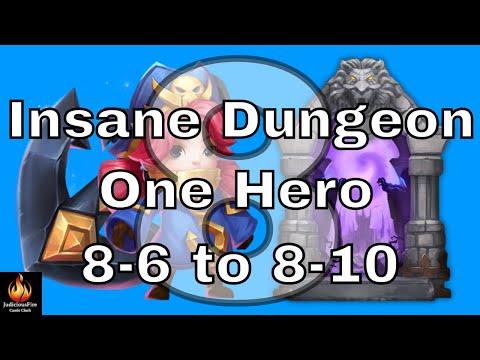 Castle Clash Insane Dungeon 8 Vs Commodora SOLO!!! (Part 2)
