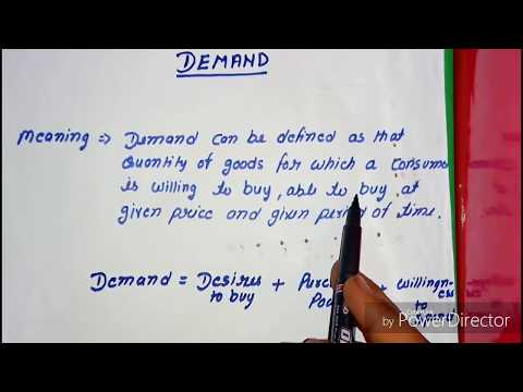 Theory of demand (part-1) , class12 microeconomics. Video 6