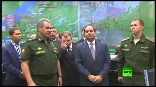 الرئيس المصري يزور مركز قيادة الدفاع القومي لروسيا