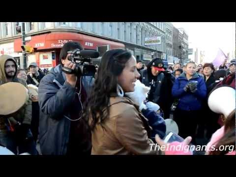 Idle No More Round Dance London Jan 10th 2013 *The Indignants*