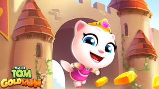 Talking Tom Gold Run - Unlock New Character PRINCESS ANGELA (Talking Tom and Friends By Outfit)