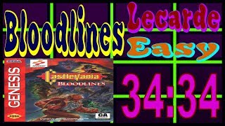 Castlevania: Bloodlines Lecarde Easy% Speedrun 34:34