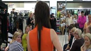 Miss West Lothian Sex and the City fashion show at Debenhams
