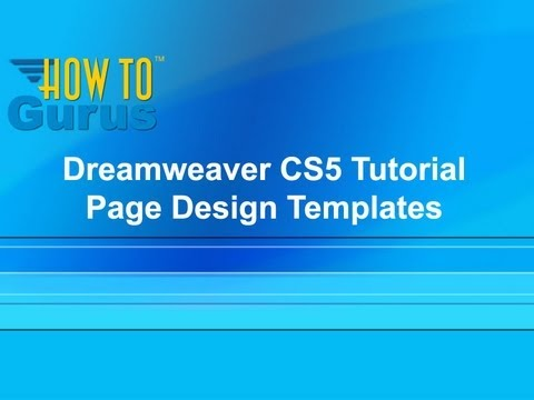 dreamweaver cs5 templates tutorial page design templates in