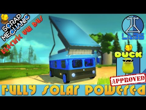Scrap Mechanic - Fully Solar Powered Electric VW Bus