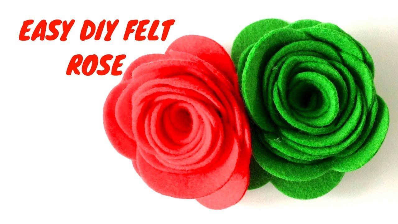 How to make felt roses felt flower tutorial diy paper craft how to make felt roses felt flower tutorial diy paper craft tutorial mightylinksfo