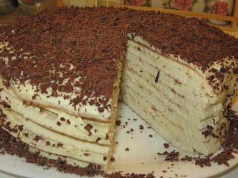 Как приготовить тортик на сгущенке на сковороде с заварным кремом