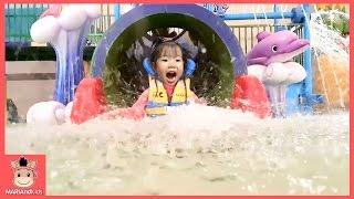 꾸러기 유니 워터파크 물놀이 웅진플레이도시 미끄럼틀 물놀이 수영장 놀이동산 신나는 튜브 물벼락 kids waterpark play | 말이야와아이들 MariAndKids
