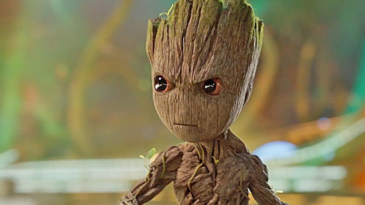 Baby Groot Behind The Scenes Filming With Baby Groot Youtube
