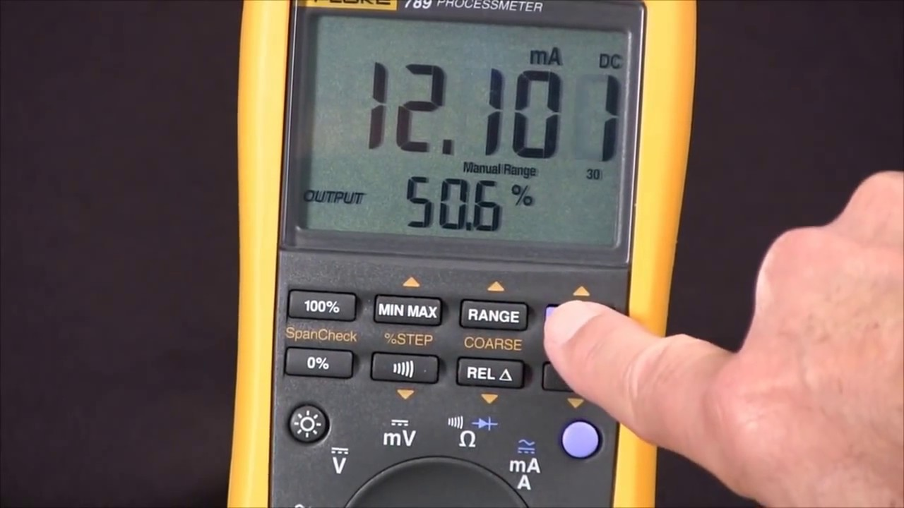 How To Source 4-20 Milliamps Using The Fluke 789 ProcessMeter