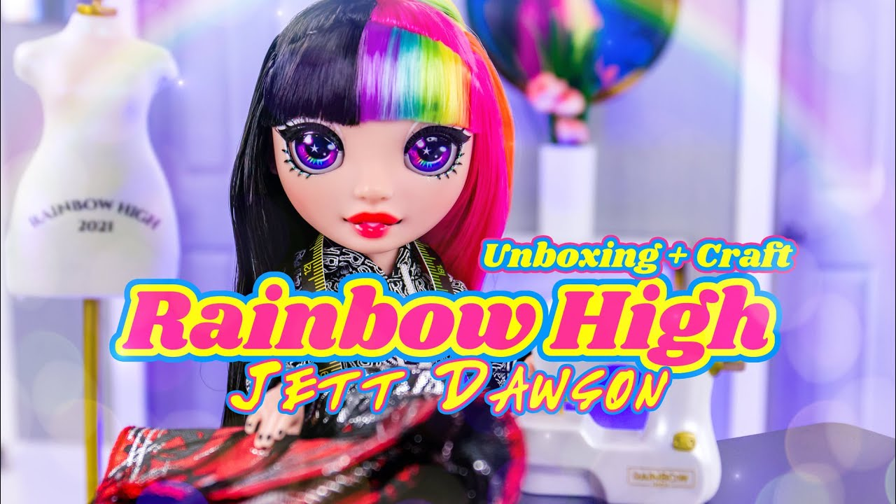 Unboxing & Craft: ALL NEW Rainbow High Jett Dawson PLUS DIY Dollroom