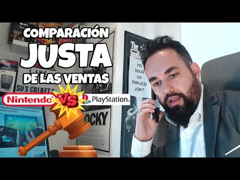 COMPARACIÓN JUSTA DE LAS VENTAS ENTRE PLAYSTATION Y NINTENDO