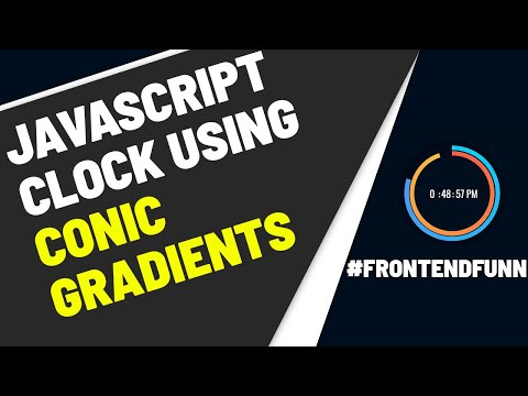 Javascript Analog and Digital Clock using Conic Gradients thumbnail