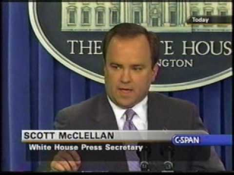 Archive: Scott McClellan Daily Press Briefing - CIA leak questions pt 3