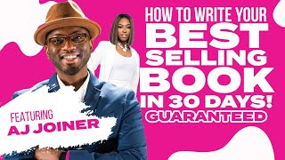 How To Write A Book In 30 Days! | Writing An eBook
