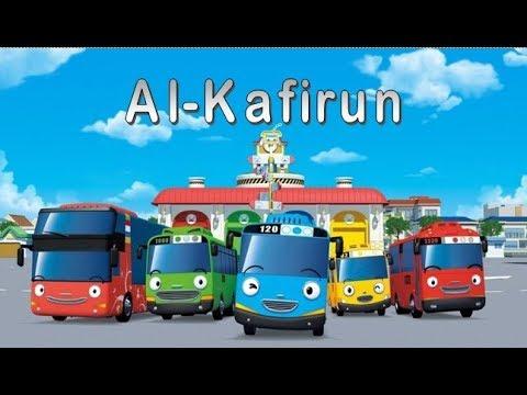 Murottal SURAT AL KAFIRUN Juz 30 Animasi Kartun Bus Tayo Belajar Al Qur'an Metode UMMI