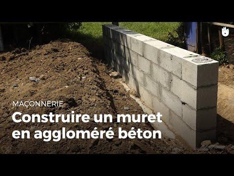 Construire Un Muret En Aggloméré Béton   Bricolage