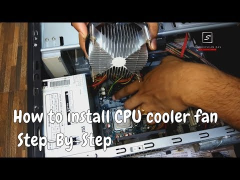 How to install/change CPU Cooling Fan | Step by step process | Zebronics  Cpu Cooling Fan LGA 775