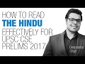 How to Read The Hindu Effectively while studying Current Affairs for UPSC CSE/IAS 2017