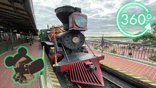 360º Ride on The Walt Disney World Railroad at Magic Kingdom