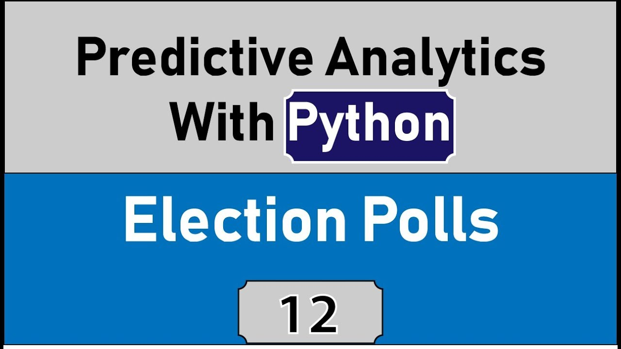 Learning Predictive Analytics With Python, Analyzing Election Data With  Pandas [Python Statistics]