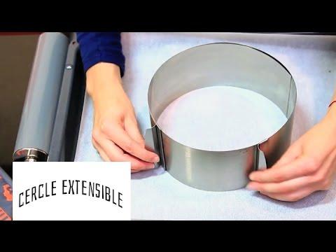 Cercle à pâtisserie extensible Marmiton