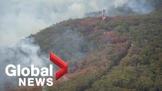 Canadian firefighter in Australia battling raging bushfires