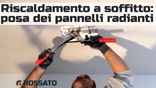 Installazione pannelli radianti a soffitto in cartongesso (it)