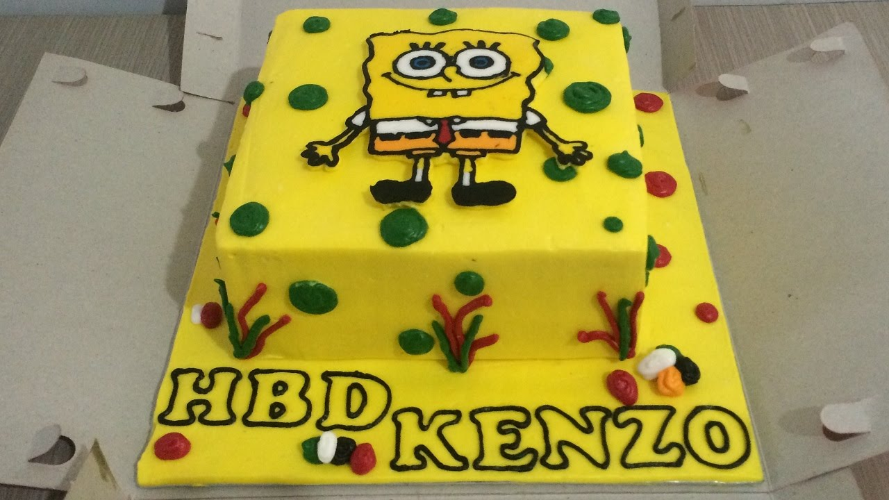 How To Make A Spongebob Squarepants Birthday Cake