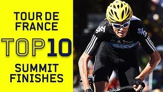 Top 10 Summit Finishes | Tour de France | Cycling | Eurosport