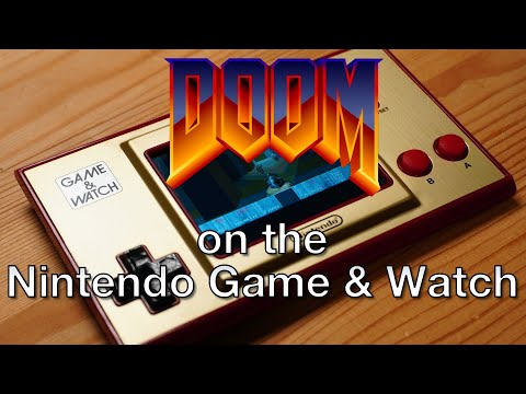 DOOM on the Nintendo Game and Watch