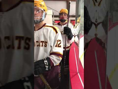 Weymouth High School - Varsity Wildcats - WYH Night - High 5 tunnel with the Mite As