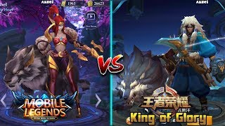 Mobile Legends vs King of Glory side by side comparison thumbnail
