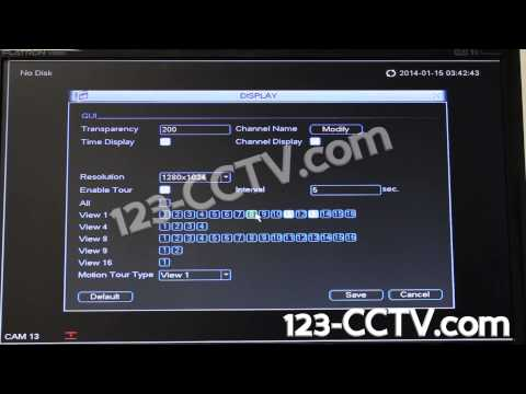 How to enable camera tour on your 123 CCTV DVR