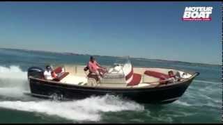 RHEA OPEN 27 Essai avec Moteur Boat