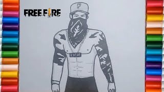 Speed Drawing How To Draw Letda Hyper Garena Free Fire Youtube