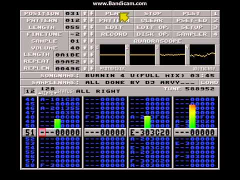 DJ Arvy - Burnin' 4 u (Full Mix) - New Protracker Mod 2013