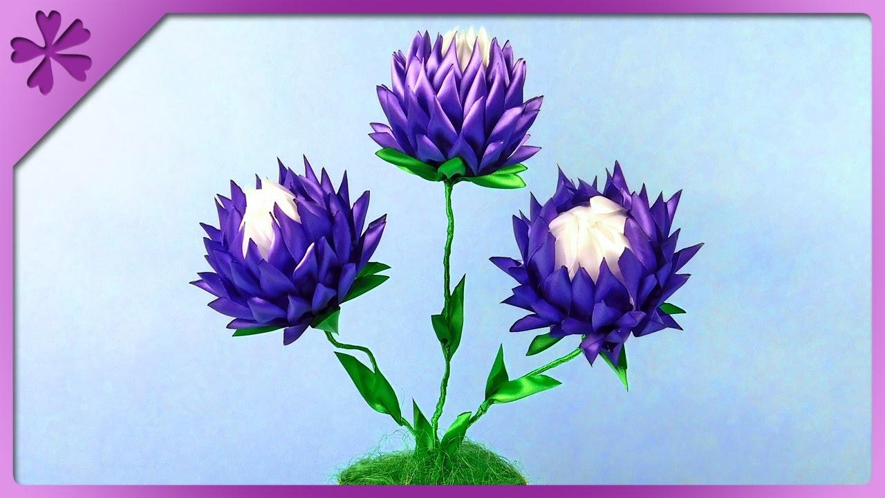 Diy Kanzashi Flowers In Flowerpot Eng Subtitles Speed Up 304 Youtube