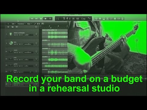 Record your band in a rehearsal studio tutorial (using M-Audio M-Track Eight) drum mix details