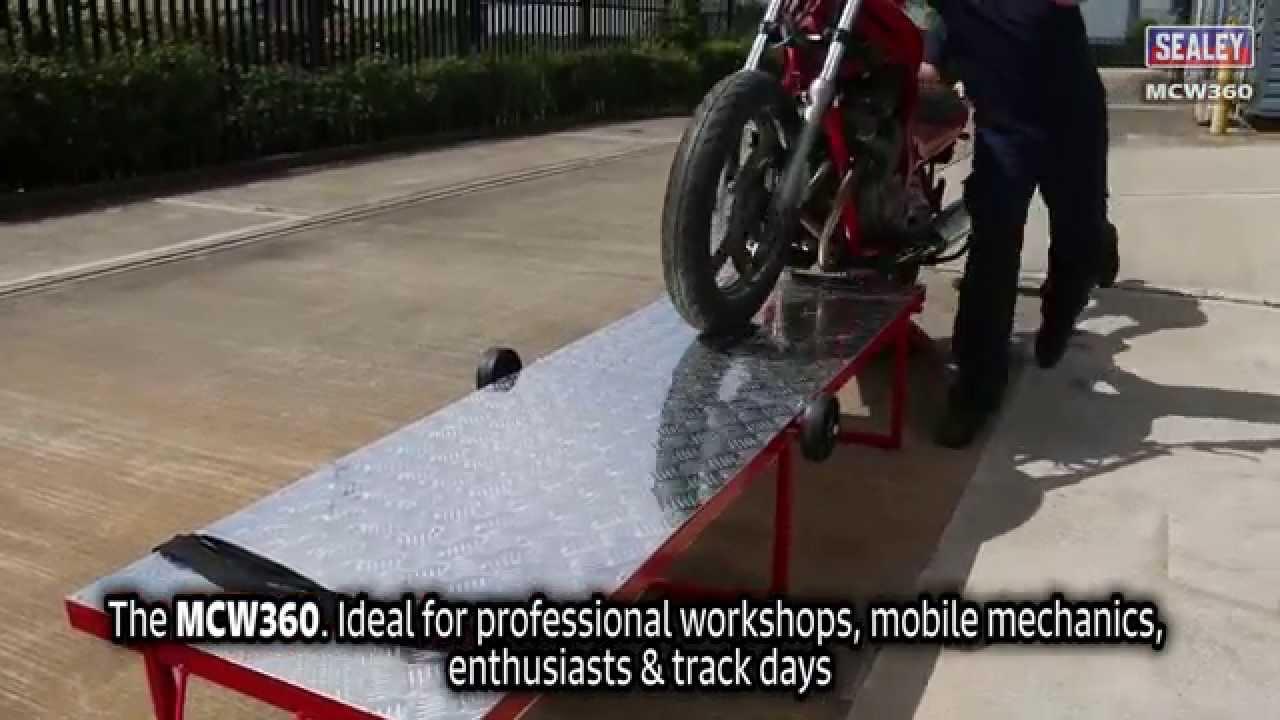 Sealey Mcw360 Portable Motorcycle Workbench Youtube