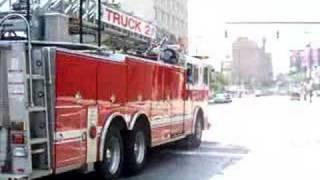 Baltimore City Fire Department Truck 2 Responding 7/29
