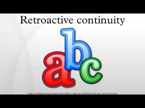 Retroactive continuity