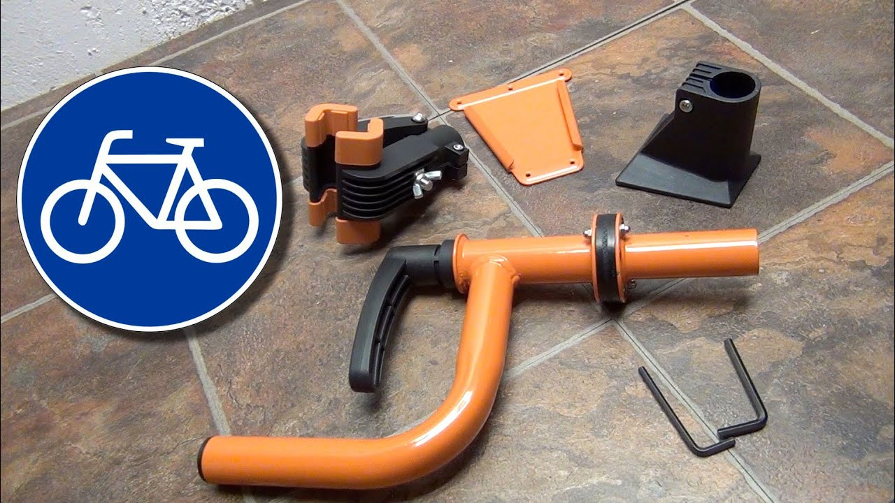 How to mount a Bicycle Wall Mount Repair Stand - YouTube