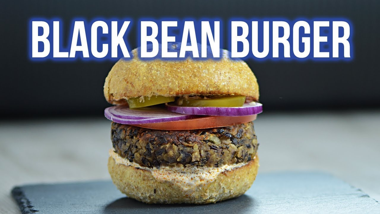 Black Bean and Mushroom Burger