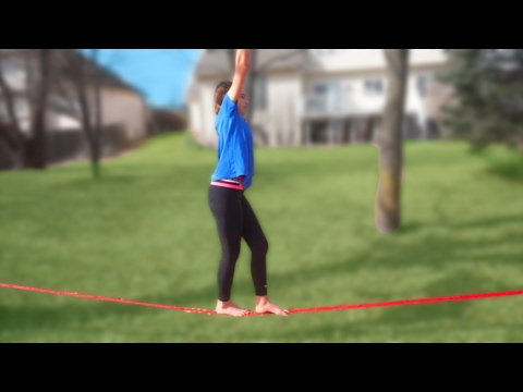 GYMNASTS TRY SLACKLINING!